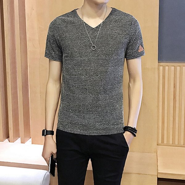 2019 Special Offer Mens T-shirts V-neck Plus Size M-5xl T Shirt Men Summer Short Sleeve Shirts Brand Tee Man Clothes Camiseta