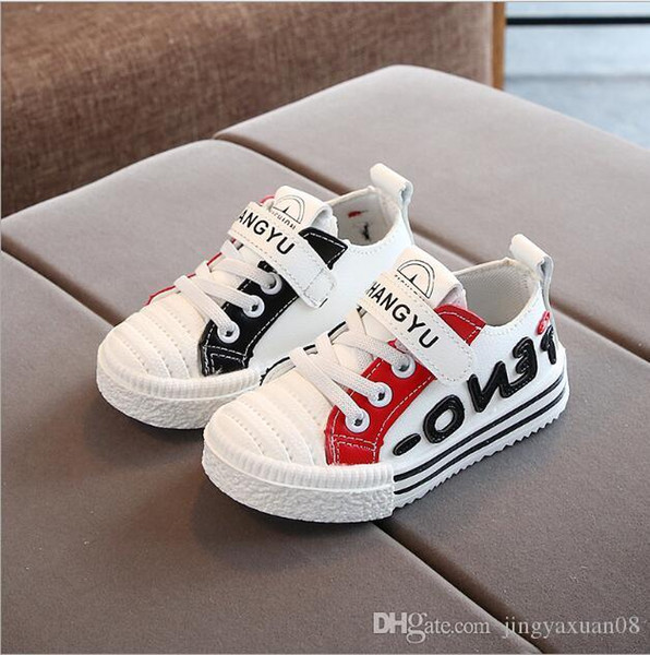 2019 autumn new boys and girls breathable fashion shoes middle and small children lightweight comfortable casual shoes baby white shoes