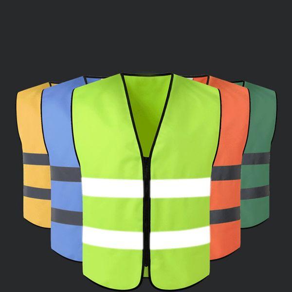 Jacket Segurança Vest reflexiva de segurança exterior Workplace Estrada de Trabalho Colete Ciclismo Fardas Sportswear