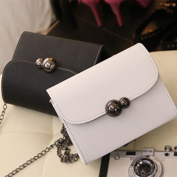 bdd8adffb3e5 Бесплатная доставка, 2019 новых женских сумок, модная мини-откидная  створка, цепная женская сумка-мессенджер, трендовая корейская версия  наплечной сумки.