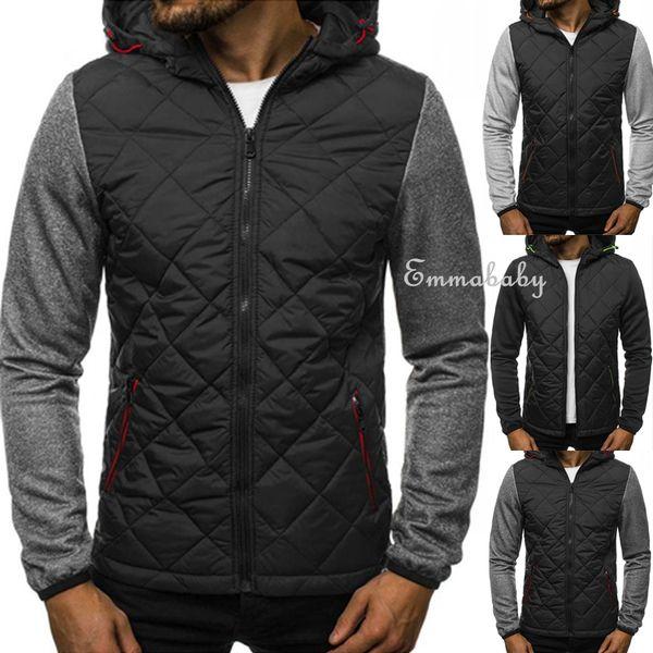Nouveaux hommes d'hiver Slim Hoodies chauds Sweat à capuche manteau veste Outwear Pull The Fur Coat Factory livraison gratuite