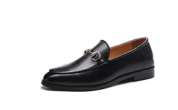 spring men dress shoes Wedding shoes Horsebit black loafers men Doug shoes 897