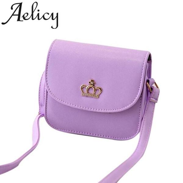 Aelicy 2019 New women's Bag Korean Fashion Crown Shoulder Bag Handbag Crossbody Bags For Women Black Shoulder Bags Leather Purse