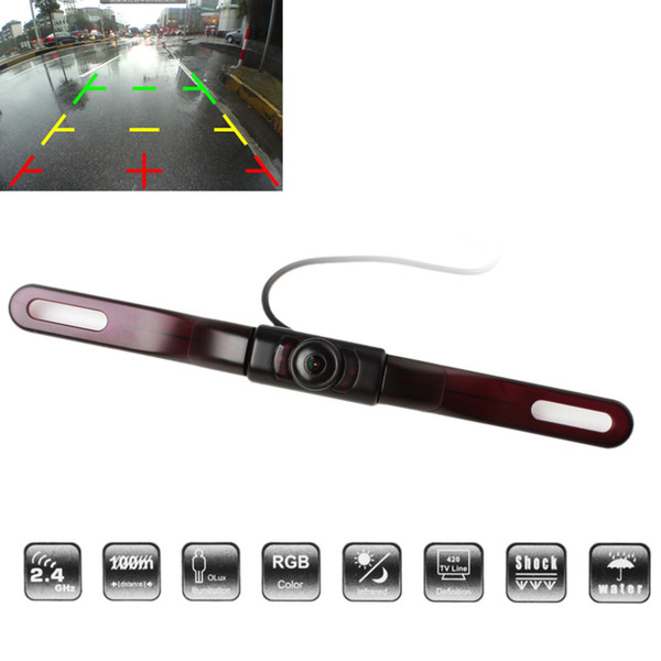 camera wide angle lens Auto Car Rear View Reverse Backup Camera 120 Degrees Wide Angle 500TVL Anti-fog Free Opening License Plate Frame