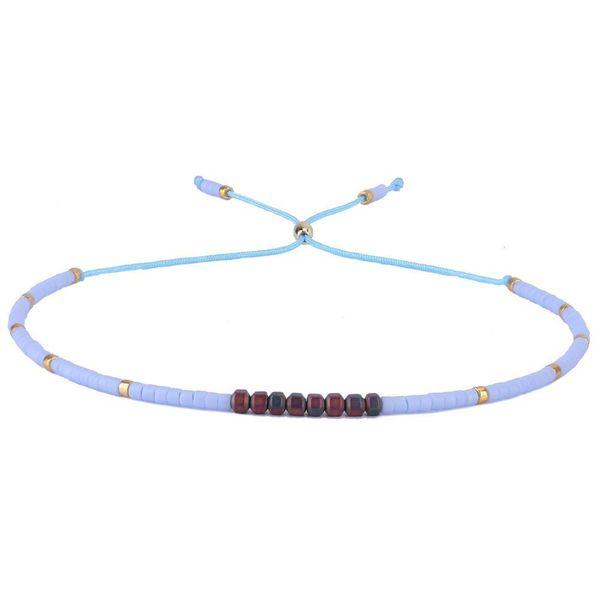 Seed Beaded Bracelets Handmade Thin Rope String Bracelets Women Fashion Friendship Strand Bangles Jewelry
