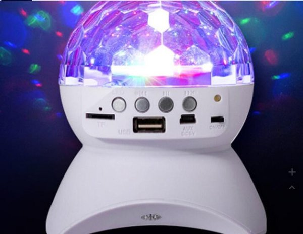 10 pcs L-740 Wireless Mini Card Bluetooth Crystal Magic Ball Speaker from factory supply red or white