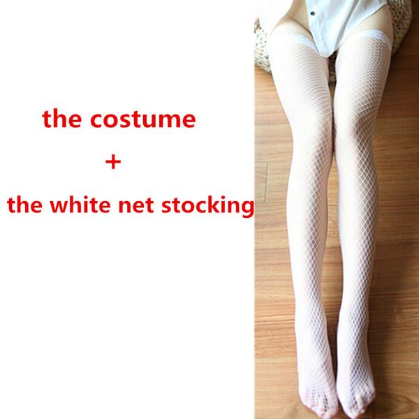 con le calze bianche