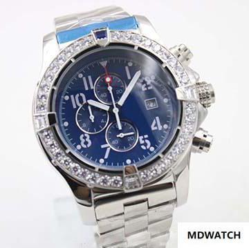 2019 neue Herrenuhr Stil Quarzuhren Diamond Case Blue Big Dial Edelstahl Männlich 1884 Uhr Montre Homme Uhren