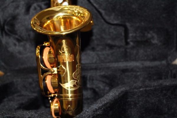 Nefis El Oyma Yüksek Kalite Pirinç Altın Lake Soprano Saksafon Inci Düğmesi Durumda Ağızlık Eldiven ile Yeni Sax Enstrüman Sazlık