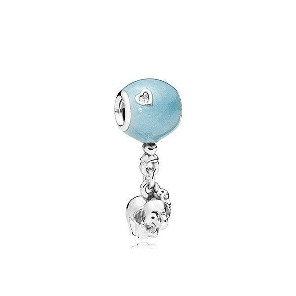 Cute Elephant Alloy Charm For Pandora Bracelet Snake Chain Or Necklace Fashion Jewelry Loose Bead