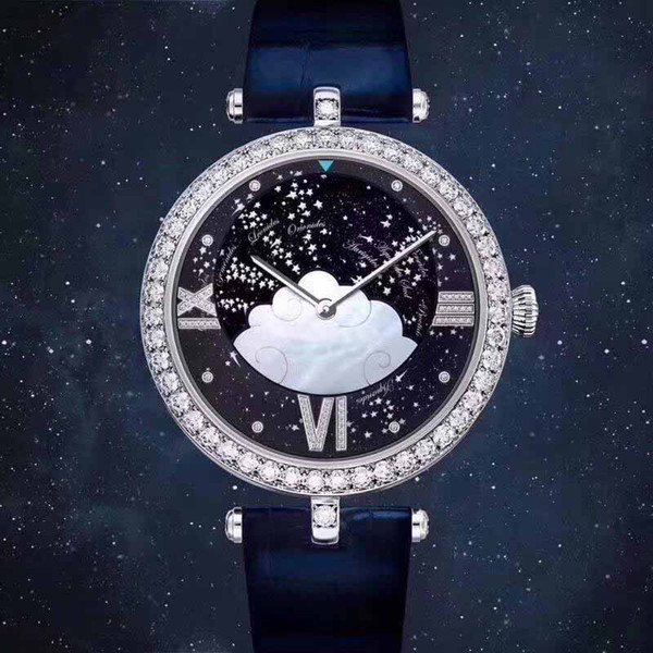 luxury lady watch designer watches for woman 38mm diamond bezel iced out watch Roman letter fashion quartz movement Wristwatches