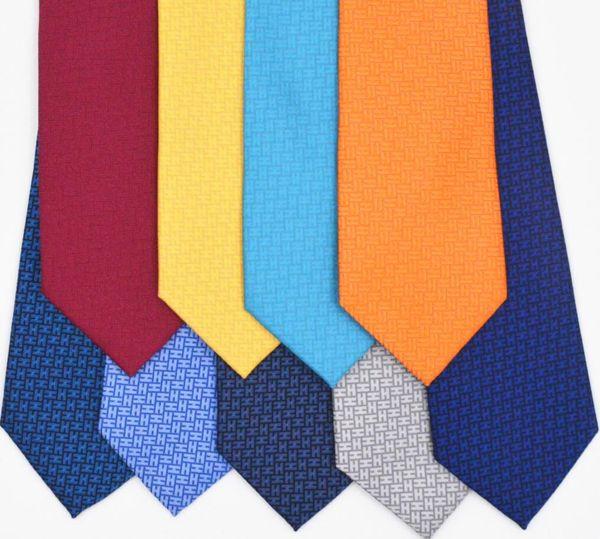 Nueva marca de moda hecha a mano corbata de negocios vestido de regalo caja de regalo H inicio corbata clásico H hombres accesorios de ropa