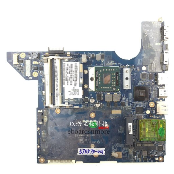 best selling 575575-001 NBW20 LA-4117P laptop motherboard for HP DV4 AMD INTEGRATED DDR2 Mainboard send cpu
