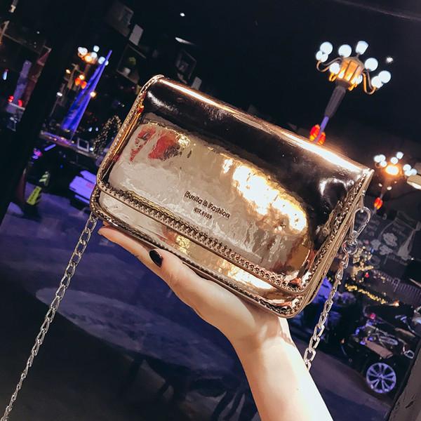 Freies Verschiffen 2019 Neue Mode Handtaschen Freizeit Frau Messenger Bags Trend Laser Frauen Tasche Koreanische Version Kette Umhängetasche