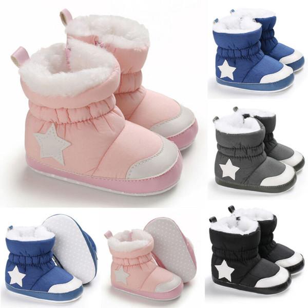 Infant Boots Winter Baby Girl Shoes Soft Sole Anti-Slip Toddler Snow Warm Prewalker Newborn Boots