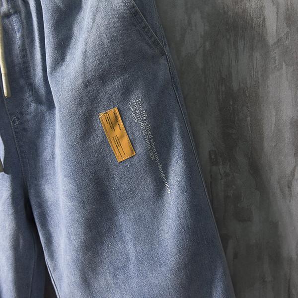 Kot, erkek moda markası, gevşek takım, düz tüp, Korece moda, düşen hissi, geniş bacak pantolon, Hong Kong tarzı, 727 ins