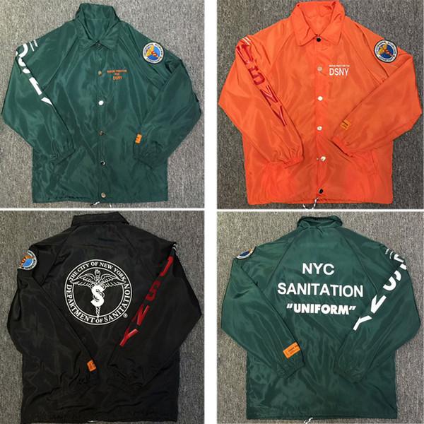 Heron Preston Куртки Мужчины Женщины 1: 1 Мода Зеленый Оранжевый Heron Престон Ветровка куртка ветрозащитный Heron Preston куртки # 866y