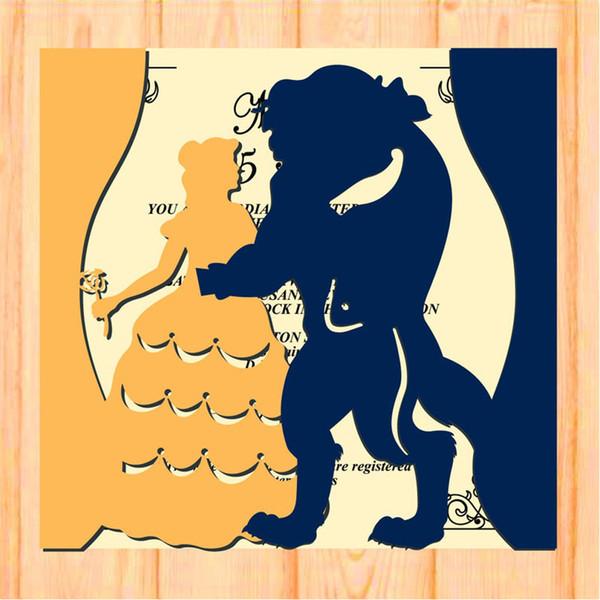 Compre Tarjeta De Invitación De Boda Tarjeta De Regalos De Bendición Para El Día Del Maestro Invitación De Corte Láser Hueco Invitación Para Ceremonia