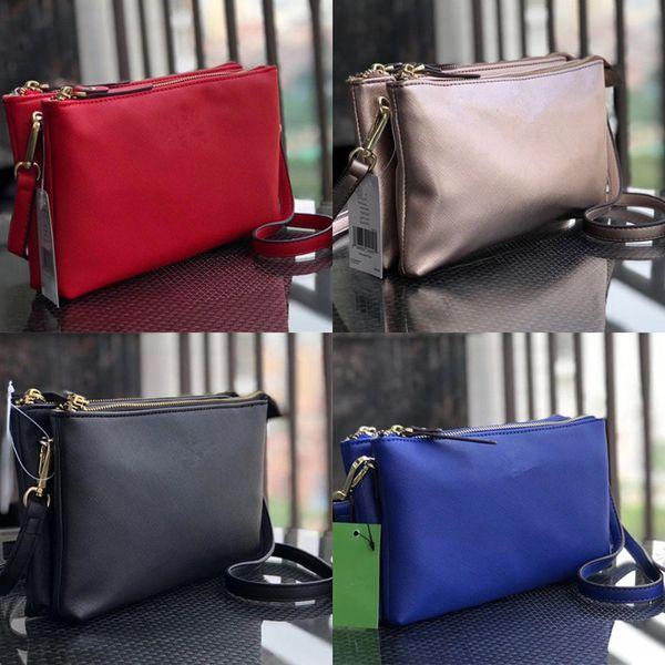 KS Belt Crossbody Bag Double Zipper Pouch Shoulder Bags PU Leather Double Layer Bag Handbags Satchel Messenger Waist Fanny Packs 2019 C41702
