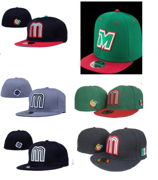 best selling Hot Sale Mexico Baseball Fitted Cap Outdoor Sports Hat Men Women fashion baseball hi hop Hat Mix Order 10000+ hats
