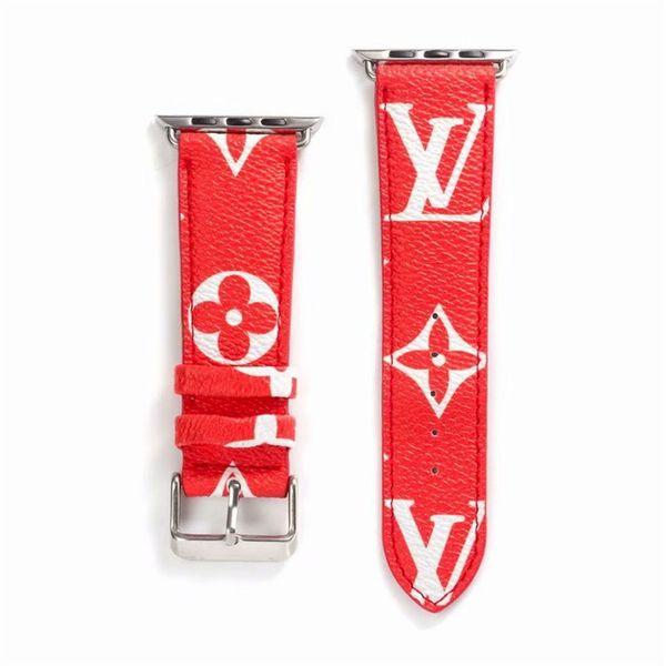 cinturini per cinturino in pelle Business Leisure per cinturini Iwatch Cinturino regolabile in pelle con motivo stampato di ricambio per cinturino stampato