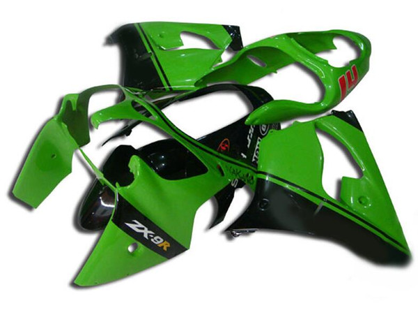 3Gifts New ABS fairings kit for Ninja Kawasaki ZX9R 2000 2001 900cc fairing motorcycle parts ZX-9R ZX 9R 00 01 Custom black green UK