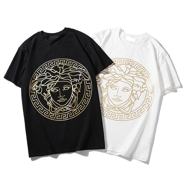 Nuova maglietta del progettista degli uomini di estate per le magliette degli uomini Maglietta traspirante del bicchierino del manicotto delle signore di modo Maglieria superiore degli uomini S-2XL disponibile