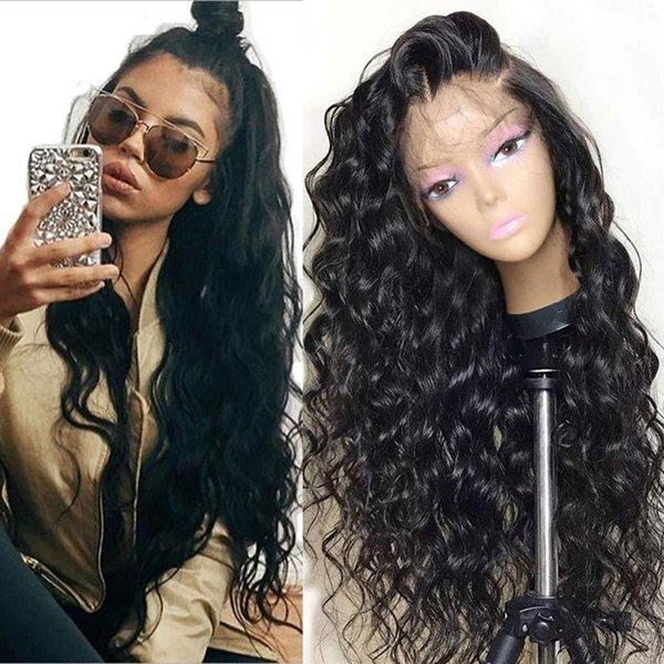 rubber-natural water ripple front lace wig and baby hair fashion wave synthetic heat-resistant fiber for women 24inces - from $28.51