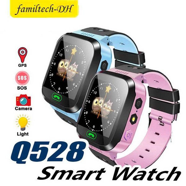 Touch Screen Q528 Tracker Watch Anti-lost Children Kids Smart Watch LBS Tracker Wrist Watchs SOS Call For Android IOS