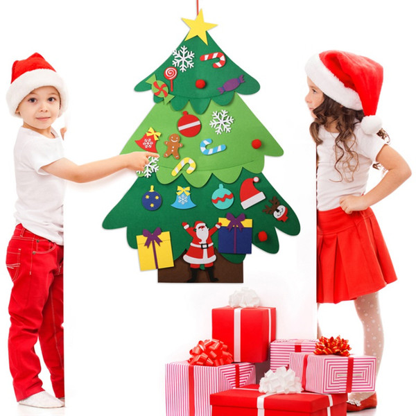 Albero di Natale con decorazioni colorate Adesivi murali per porte e finestre in vetro Vetrina per camera da letto della casa della mensa del caffè