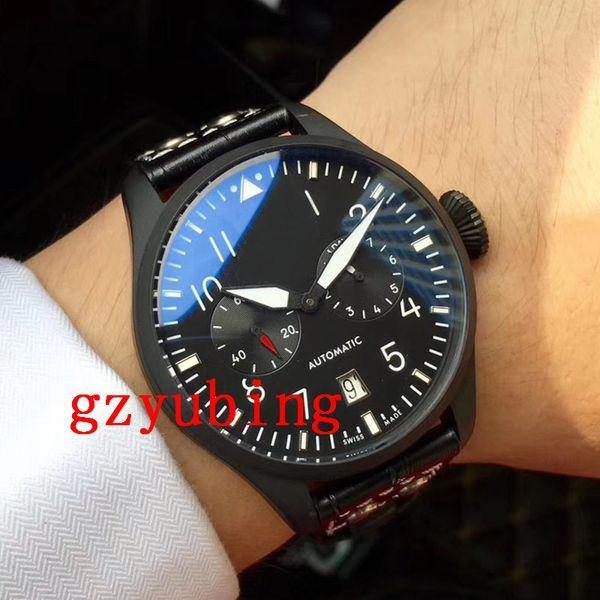 2019 Luxury Wristwatch Big Pilot Black Case Automatic Men's 46MM Men Mens Sprot Watch Watches Wristwatches