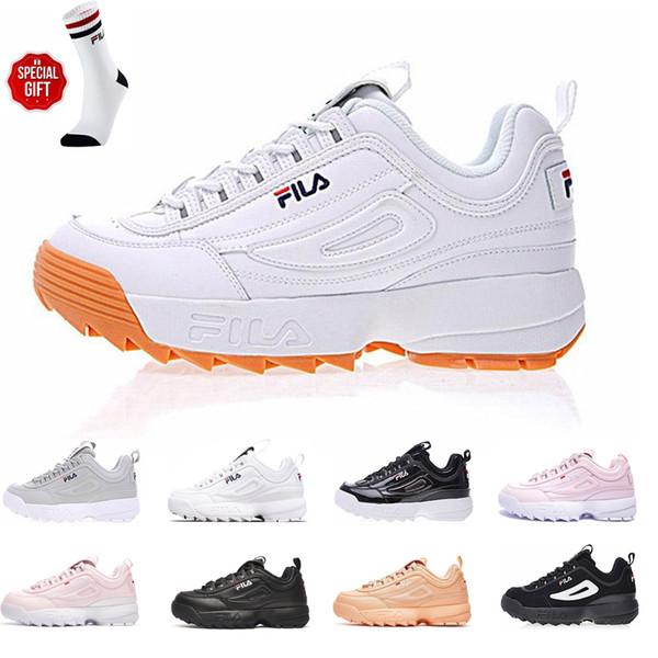 Alta calidad Disruptores II 2 Aumentar suelas Mujeres para hombre Diseñador de la plataforma deportiva zapatillas de deporte corriendo zapatos Trainer Chaussures 36-44