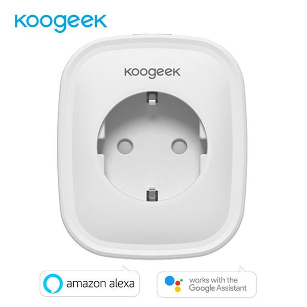 Koogeek WIFI Akıllı Soket AB Tak AC220V Uzaktan Kumanda Akıllı Zamanlama Anahtarı Enerji Izleme Amazon Alexa Google Asistanı