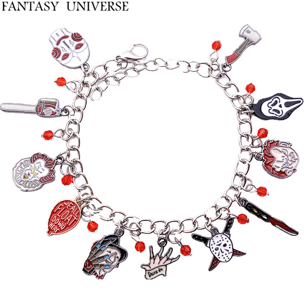 FANTASY UNIVERSE Freeshipping 20pc a lot Horror Charm Bracelet HRFFGFFF01