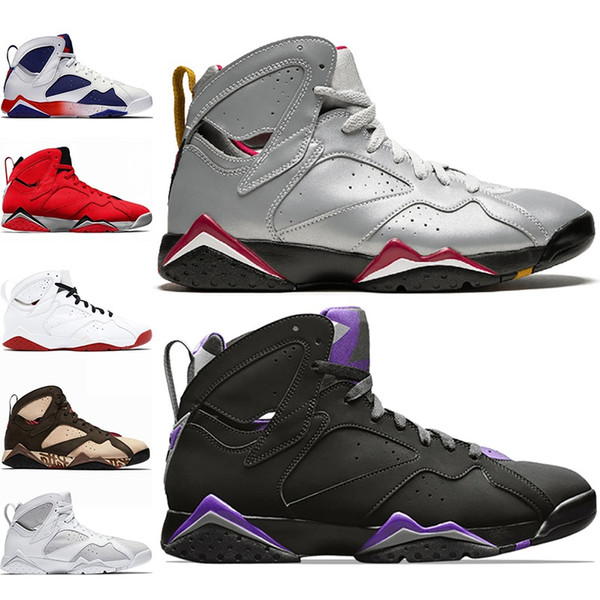 Discount 7 Men Basketball Shoes 7s Patta Ray Allen Reflections of A Champion Mens Trainer Athletic Sports Sneakers Size 8-13