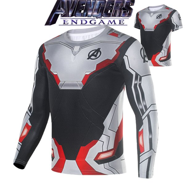 Avengers Endgame Quantum Realm Cosplay 3D Printed T-shirts Unisex Compression Fitness Quick Dry T shirts Summer Superhero Tees Must-have
