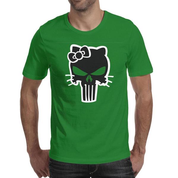 Men design printing Punisher Skull green t shirt printing funny cool designer champion shirts hip hop t shirt cute humorous beer ameri