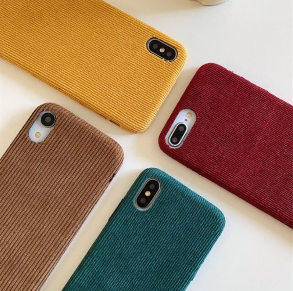 Corduroy Soft Case Cover Iphone 6 7 8
