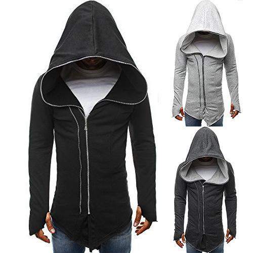Sexy2019 European Code And Pattern Dark Cloak Clothes Assassin Creed Zipper Long Sleeve Even Midnight W30