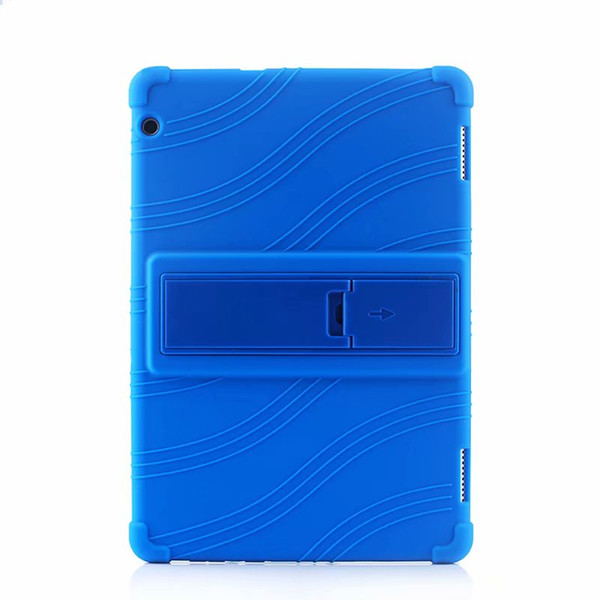 Soft Silicon TPU Back Cover Case Stand for Huawei Mediapad Honor Tablet 5 AGS2-W09HN 10.1 inch Tablet