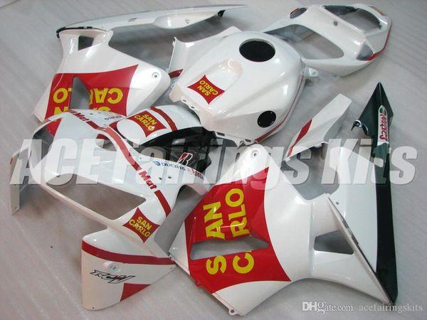 Novas Kits de Caravanas de bicicleta motocicleta ABS Fit Para HONDA CBR600RR F5 2005 2006 05 06 600RR CBR600RR F5 conjunto de carroçaria personalizado Carenagem branco vermelho