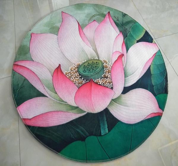 Chinese Round Lotus Seat Cushion Meditation Prayer Rugs Pad Computer Swivel Chair Hanging Basket Mat Buddhist Temple Carpets