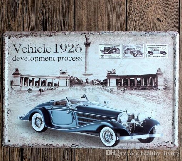 2019 Vintage Car Tin Signs Wall Art Retro Route 66 Tin Sign Old Wall Metal Painting Art Bar Pub Coffee Restaurant Home Decoration 888 From
