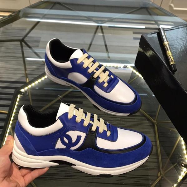 2019q otoño nueva edición limitada exclusiva de lujo personalizado diseñador moda casual zapatos de hombre, tendencia salvaje zapatos deportivos al aire libre, tamaño: 38-44