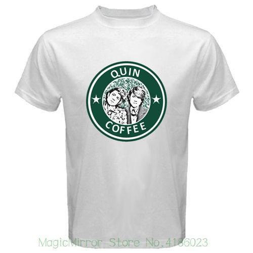 Tegan e sara quin café novo dos homens t-shirt branco camisas dos homens de manga curta tendência clothing