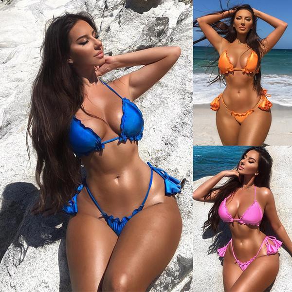 Con 2019 Compre Ropa Dos Playa Biquini Trajes Piezas Bikini Traje Bain Nuevo Maillot Sexy De Colgante Baño eWYbH2ID9E