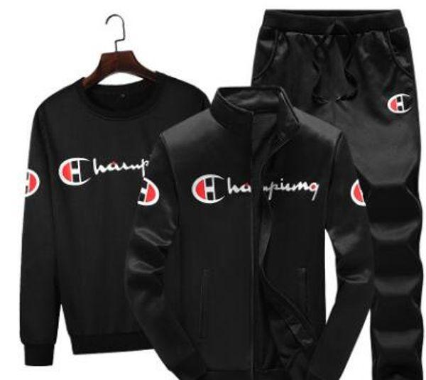 Tuta sportiva da uomo, abbigliamento da uomo, autunno e inverno, giacca da colletto, abbigliamento moda coreana, tre pezzi
