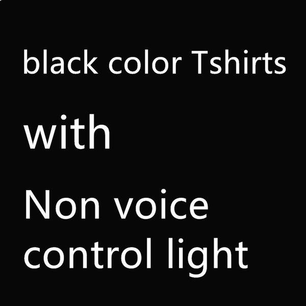 Camisetas negras, + luz de control sin voz