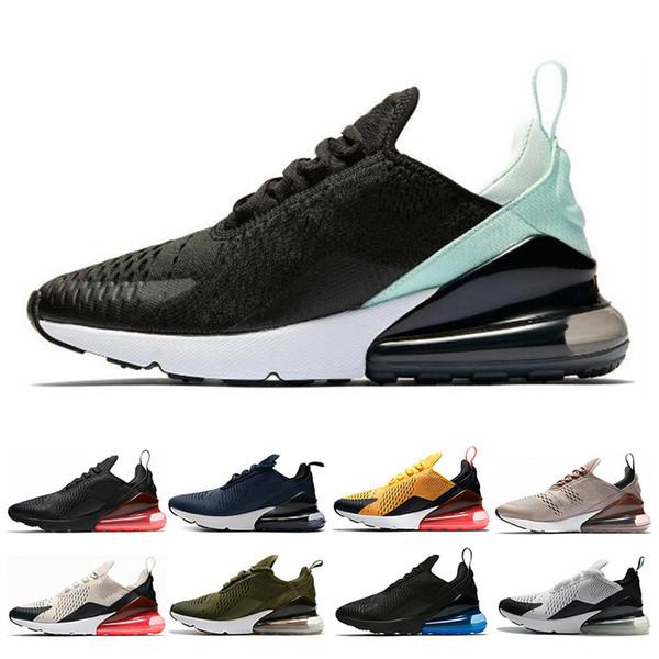 Compre Nike Air Max 270 Diseñador Para Mujer Para Hombre Zapatos Para Correr Triple Blanco Negro Luz Hueso BARELY Rose TFY Vibes Tiger Mujer Deportes