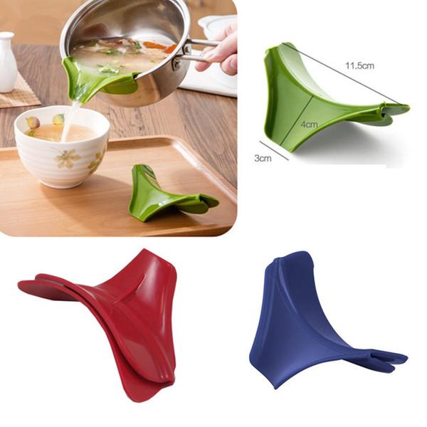 MutiFunction Silicone Pour Spout Slip On Clip Sartenes Tazones de cocción Verter Batter Sauces Dressings Clip Kitchen ToolsTTA1068